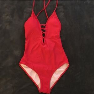 Other - NWOT Red Hot Bathing Suit